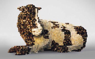 La vache pixelisée, par Amer Shomali