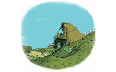 Un berger dans la banque, par Thierry